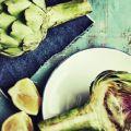 artichaut coupé en deux