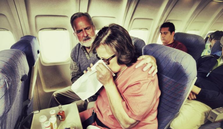 malade en avion