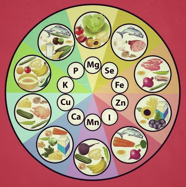 Sachez diversifier votre alimentation pour avoir le maximum d'oligoéléments