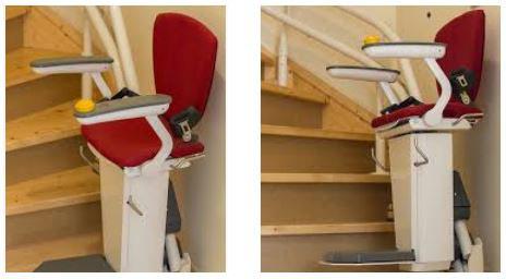 1 modèle rouge de monte escalier