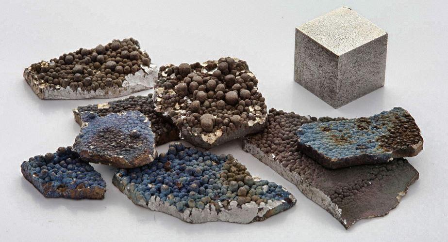 Fragments de manganèse pur
