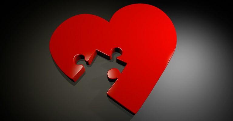 Coeur forme puzzle