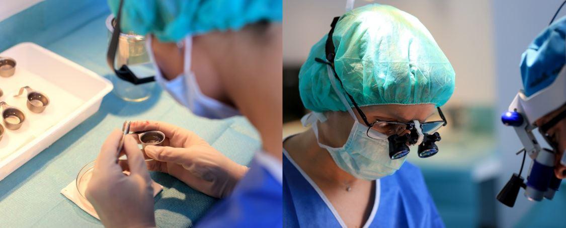 chirurgien pratiquant une greffe de cheveux