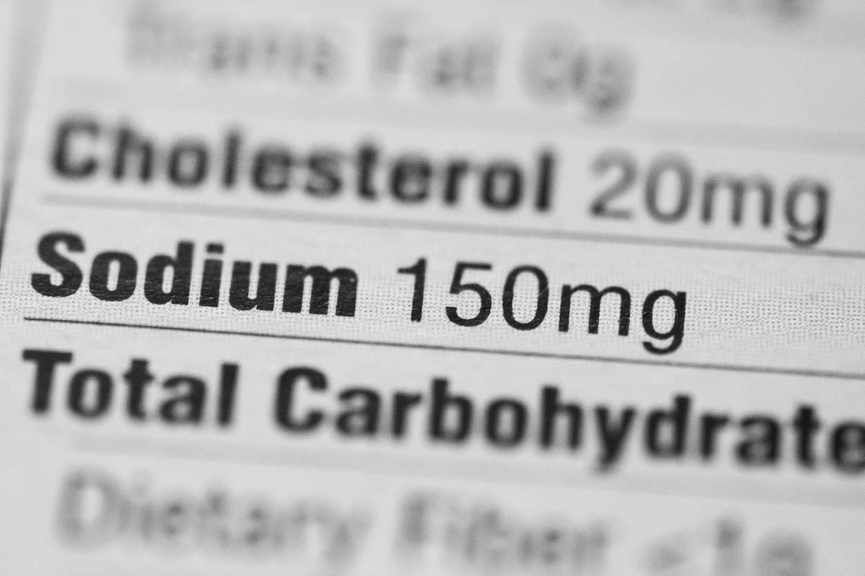 Valeur nutritive. Teneur en sodium