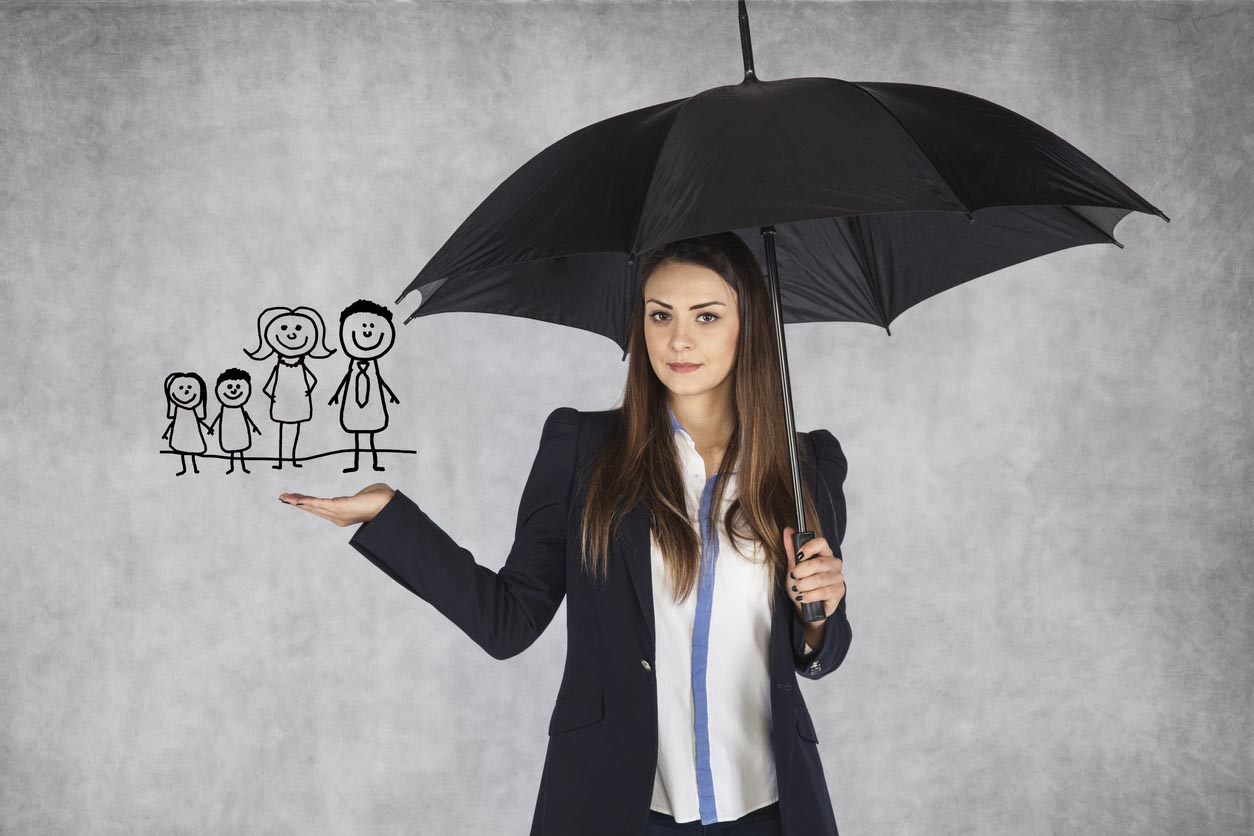 Insurance Agent Presents The Offer Family Insurance