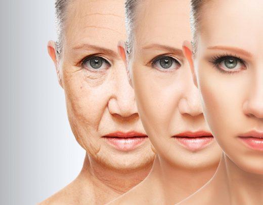 Concept de la peau anti-âge. procédures, de ressourcement, de la peau du visage liftant