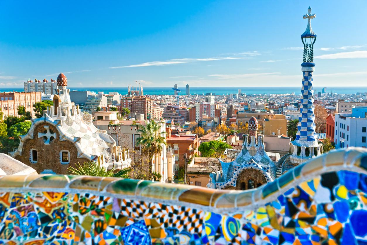 Parc Guell à Barcelone, Espagne