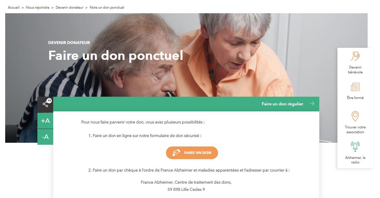 Capture Ecran France Alzheimer